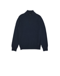 French Connection - Utility Blue Half Zip Sweater
