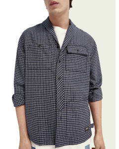 SHAWL COLLAR OVER SHIRT- SCOTCH & SODA