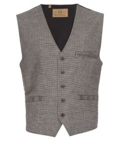 Albert Stretch Vest in Houndstooth- Nifty Genius
